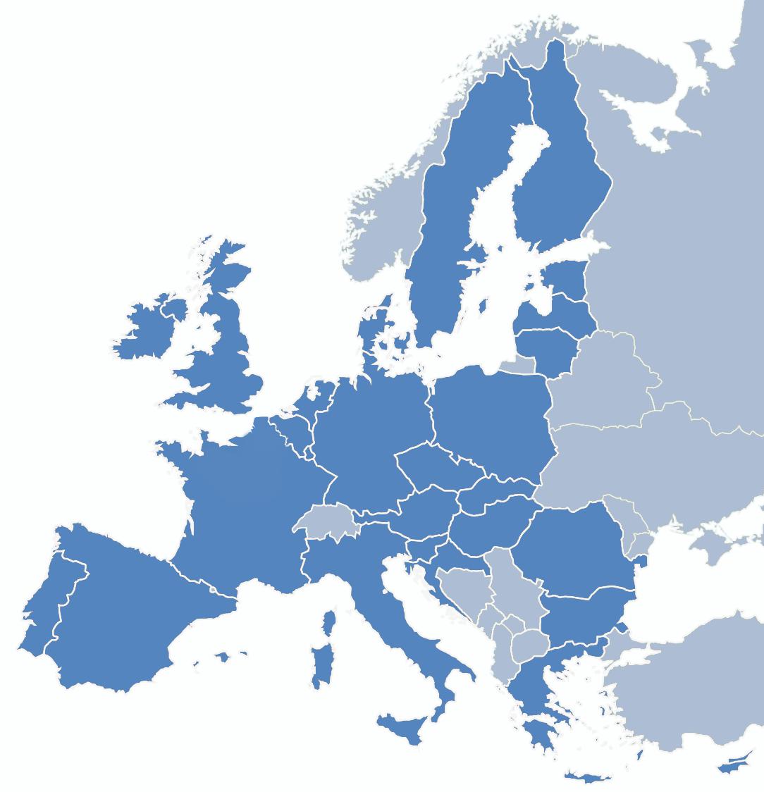 Puissance éoliennes en mer en Europe