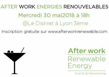 Afterwork des Énergies Renouvelables à Lyon le 30 mai 2018 au Diskret